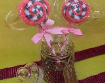 Guava lollipop (lollipop sponge)