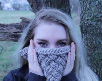 Celtic Weave Cowl/Infinity Scarf- Of the Cabin