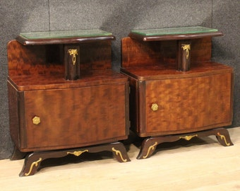 Pair of French bedside tables in Art Déco style
