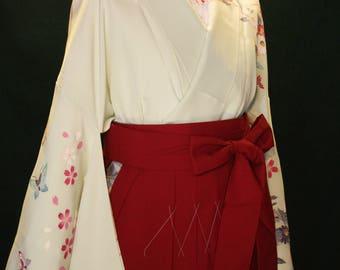 Red hakama skirt