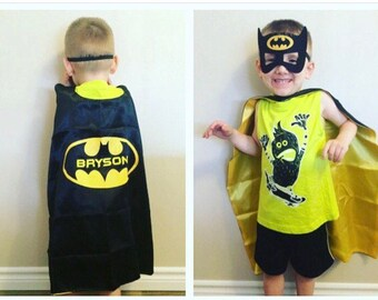 Personalized Superhero Cape + Mask