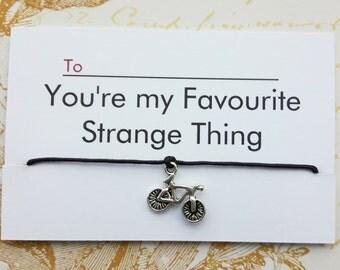 Stranger Things, Stranger Things Valentine's Gift, Stranger things Bracelet, Wish Bracelet, Gift For Boyfriend, 80's Gift, Tv show Gift