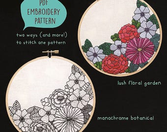 PDF embroidery pattern for Garden by galemofre