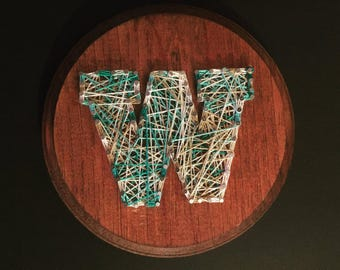 Letter String Art, Monogram, Thread Art, Nails, Plaque, Customize, Personalize, Multiple, Nursery, Name, Spell, String and Nails, Ships Free