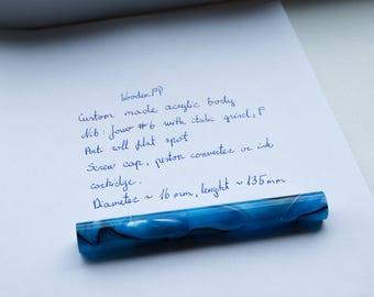 Hand made acrylic fountain pen with Jowo #6 nib. Custom made.