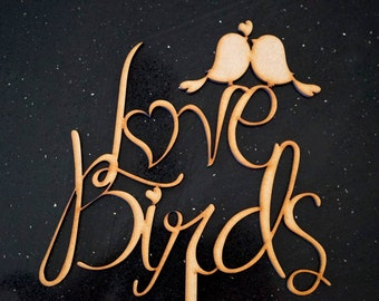Love Birds - Wedding Cake Topper Decoration