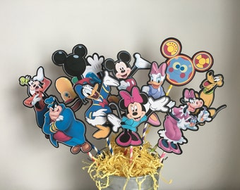 Disney Mickey Mouse Clubhouse Set of 10 Centerpiece Picks (Double-Sided)