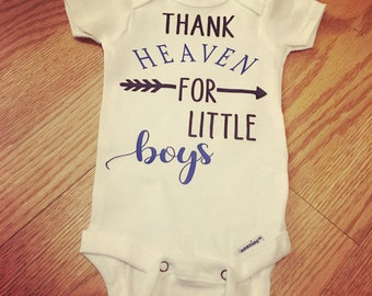 Thank heaven for little boys or girls bodysuit