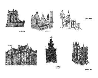 International Buildings - Folded Cards