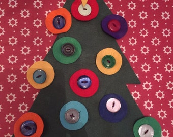 Button Christmas Tree Playset