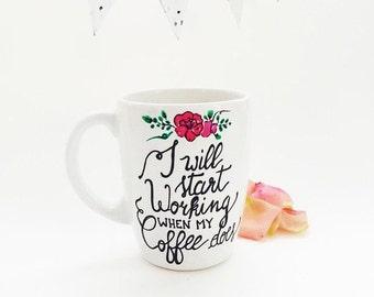 Handmade ceramic Mug - Coffee