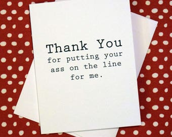 Thank You Card - Ass on the Line