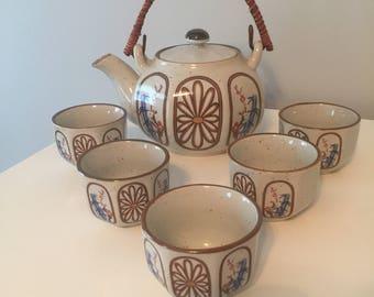 Vintage KGG Handpainted Japanese Tea Set 6 Piece