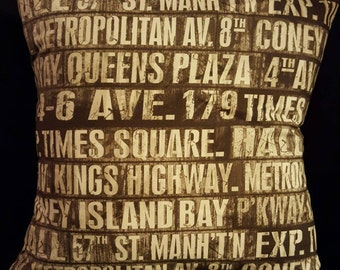 New York street name cushion
