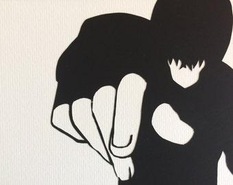 Tatsuya Shiba // Irregular at Magic High School // handcut paper art // framed