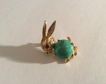 Colourful Bunny Brooch