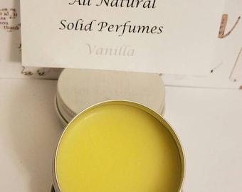 All natural solid perfume- Vanilla