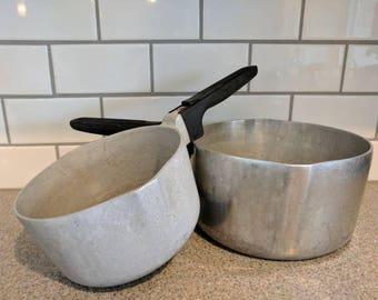 Vintage Wagner Ware Sydney Magnalite Sauce Pans