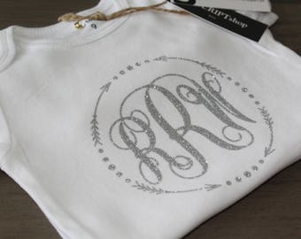 MONOGRAM ONESIE or TEE