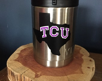 TCU decal, Texas Christian University, Horned Frogs decal, college decal, yeti decal, Swell decal