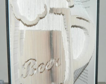 Beer Book Folding Pattern  Cut and Fold