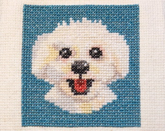 Bijon Frisé dog cross stitch pattern Instant Download