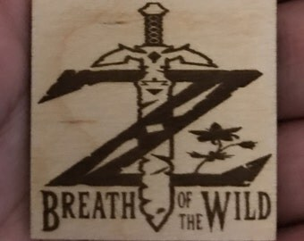 Zelda Breath Of The Wild Laser Engraved Wooden Magnet