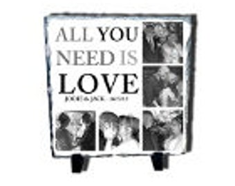 Personalised Love and Family Photo Slate