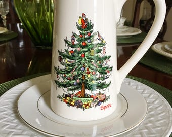 Christmas Spoede pitcher 7 inches high - gorgeous!
