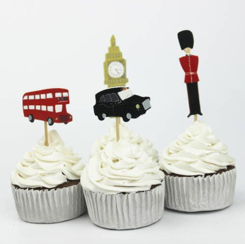 london themed wedding cake toppers themed cupcake cake toppers 12 from 16927