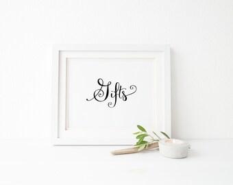 Gifts wedding sign, wedding decoration, wedding gift table sign, wedding table sign, reception sign, decor for wedding, wedding decor