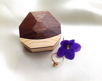 Wooden ring box Wedding ring box for ring Wedding box for ring Engagement ring box Wooden Engagement gift box Wood ring box proposal ring