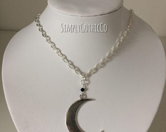 Gothic Single Moon Necklace