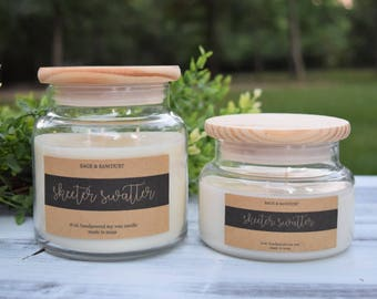 SKEETER SWATTER - Handpoured Soy Candle- 16 oz & 9 oz - Bug Repellent - Mosquito Repellent - Citronella