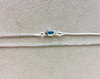 20 inch Sterling Silver Box Chain Necklace, 1.2mm