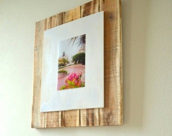 Rough wood photo frame