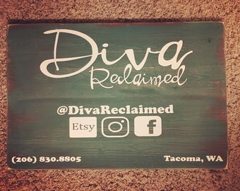 Custom business wood sign, logo sign, consultant, custom hand painted wood sign, business cards, advertising