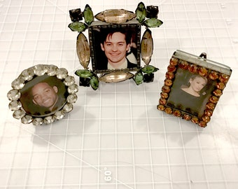 1990s Jeweled Frames - set of 3