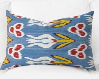 All Size Handwoven pillow, ikat, ikat pillow, silk , throw pillow, pillow cover, accent pillow, silk ikat pillow, ikat pillows, ikat bedding