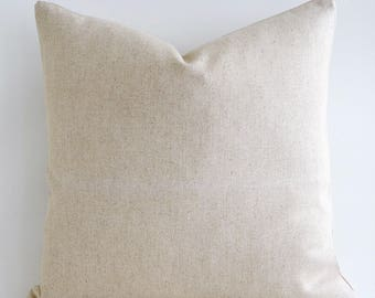 Any Size Natural Linen Pillow Cover Raw Linen Pure Linen Pillows Linen Throw pillow Decorative Pillow cover