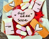 "Dante's ""Get Well Soon"" Cookie Box /Healthy Dog Treats /Organic Dog Treats /Dog Cookies /Sick Dog Gift /Dog Bakery /Dog Owner Gift"