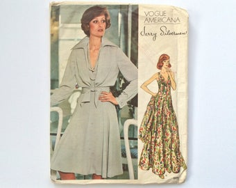 FF B36 1970s Dress and Jacket Sewing Pattern : Vogue American Designer Jerry Silverman 1117