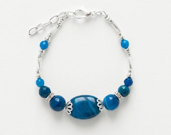 Bracelet Blue Agate