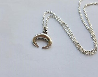Horn Necklace (Silver)