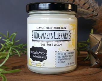 LARGE Hogwarts Library 8 oz. Soy Candle
