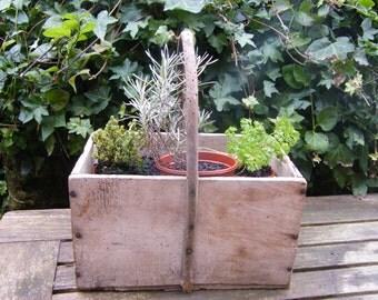 Vintage French wooden basket/trug