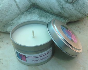 100% Soy candle tin. 6 oz tin. Dye free. Clean burn. Meditation candles. Relaxation candles. Unique fragrance candles. All natural candles.