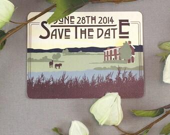 Kentucky Country Landscape Save the Date Postcards - JA1