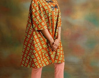 Ankara cape jacket