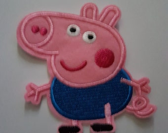 George Pig, Peppa Pig Iron on Patch Embroidered Iron on Transfer